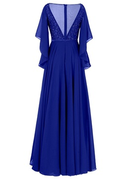 Elegant Bateau Beaded A Line Mother of the Bride Dress