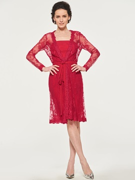 Sheath Mother of the Bride Dress with Lace Jacket