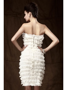 Fantastic Sheath/Column Strapless Knee-Length Tiered Taline's Mother of the Bride/Office Dress With Jacket/Shawl