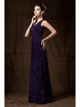 Charming Lace Sheath/Column V-Neck Floor-Length Taline's Mother of the Bride Dress With Jacket/Shawl