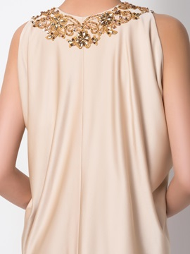 Classical V-Neck Appliques Beading Draped Column Short Cocktail Dress Designed