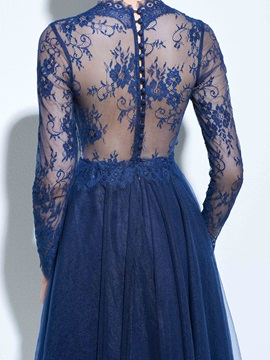V-Neck Long Sleeves Knee-Lenggth Lace Cocktail Dress