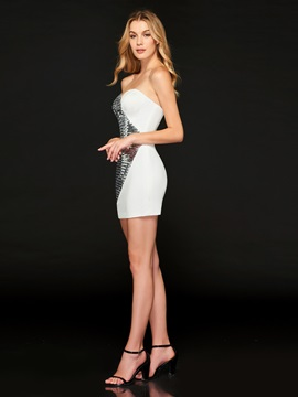 Sheath Sweetheart Sequins Sashes Cocktail Dress