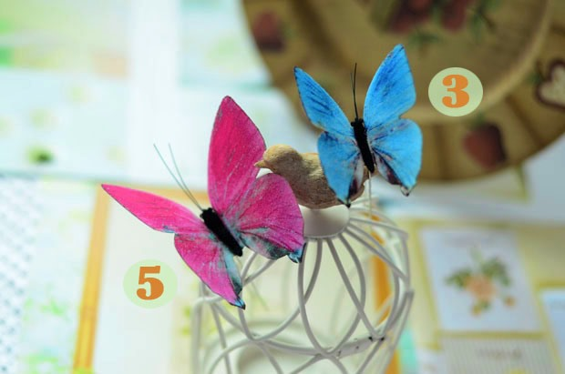 Glamorous Colorful Simulation Tulle Butterflies for Wedding Bridal Head-flower