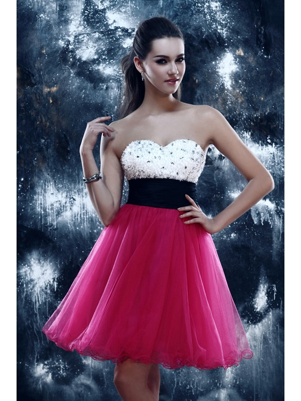 Gorgeous A-Line Sweetheart Short-Length Empire Beading Sandra's Homecoming Dress