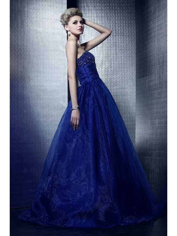 Charming Strapless Beading Empire Lace-up Floor-Length Dasha's Prom/Quinceanera Dress