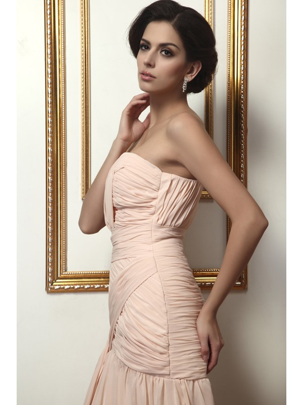 Hot Selling Sweetheart Sheath Pleats Split-Front Floor-Length Taline's Evening Dress
