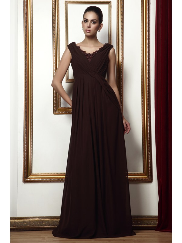 Enchanting Lace Trimmed A-Line Floor-length Scoop Taline's Bridesmaid Dress