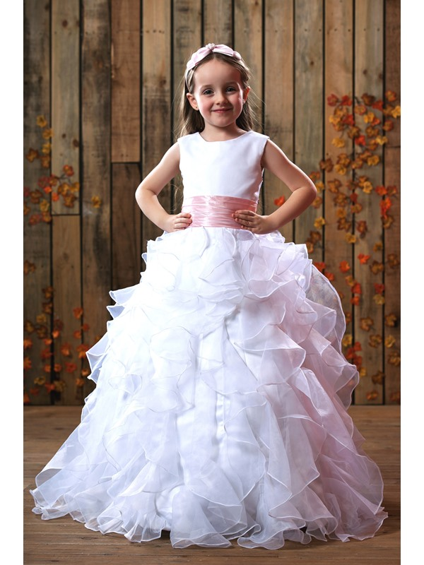 Gorgeous Ball Gown Ruched Flower Girl Dress