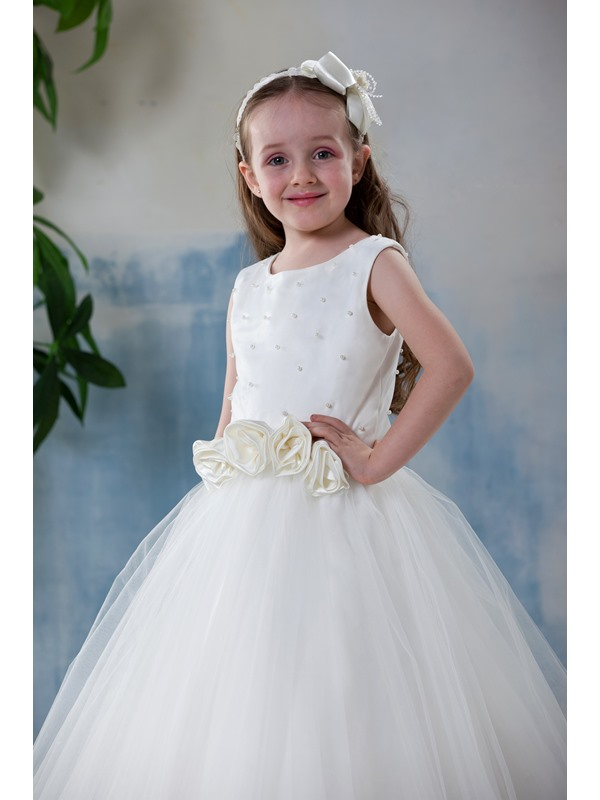 Simple Style A-Line Scoop Flower Girl Dress