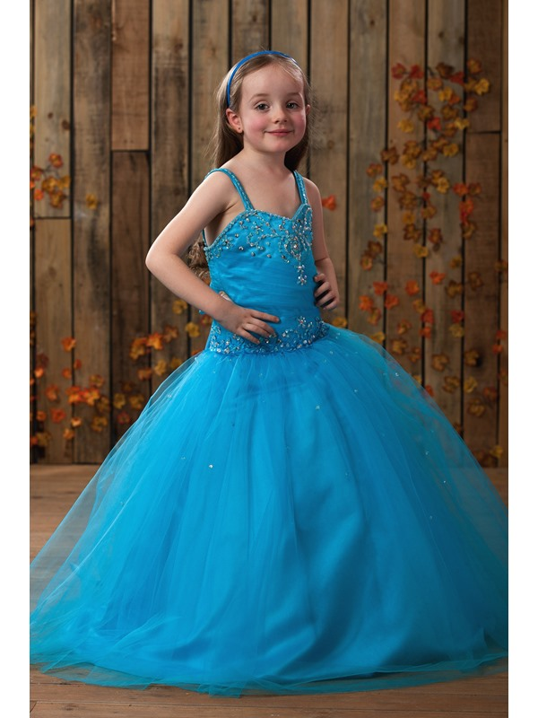 Sequins Beading Ball Gown Flower Girl Dress
