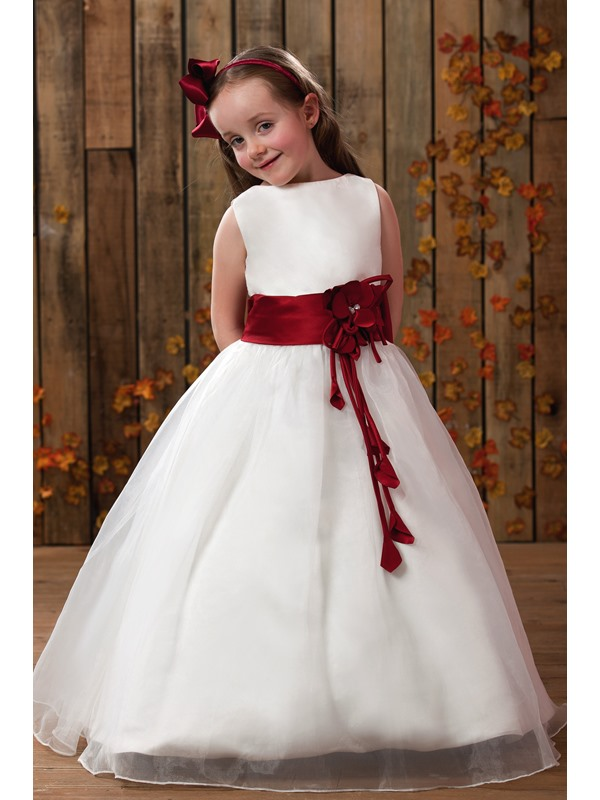 Gorgeous A-Line Scoop Tea-length Flower Girl Dress