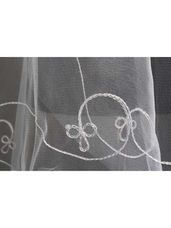 Elbow Tull Bridal Veil with Beads
