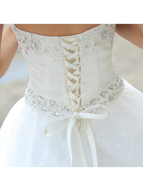Fantastic Sweetheart Beading Ball Gown Floor-Length Wedding Dress