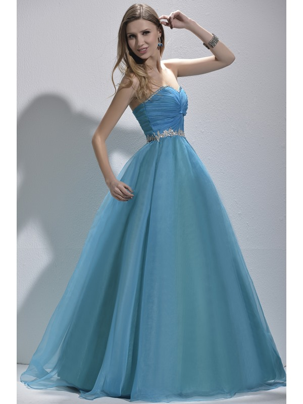 Attractive Sweetheart Appliques Sequine Lace-up Floor-Length Prom/Quinceanera Dress