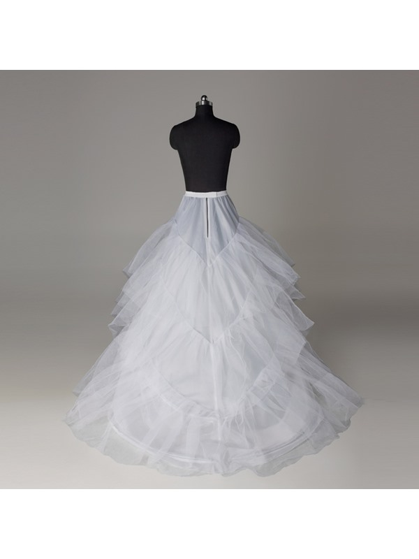 Elegant A-line Three Layers Three Steel Loops Court Train Wedding Petticoat