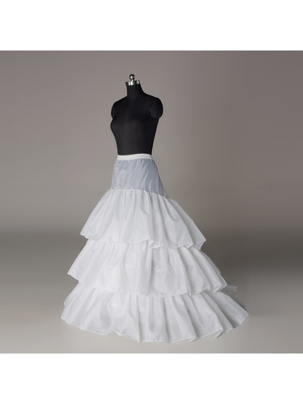 Court Train Three Layers Three Steel Loops Wedding Petticoat