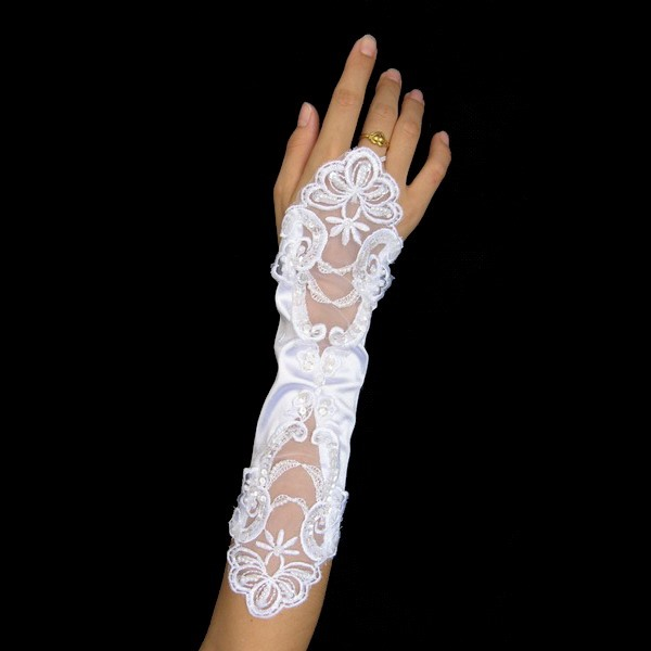 Unique Fingerless Lace Wedding Bridal Glove