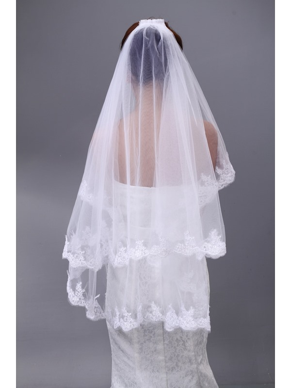 Elegant Tidebuy Applique Tulle Wedding Bridal Veil