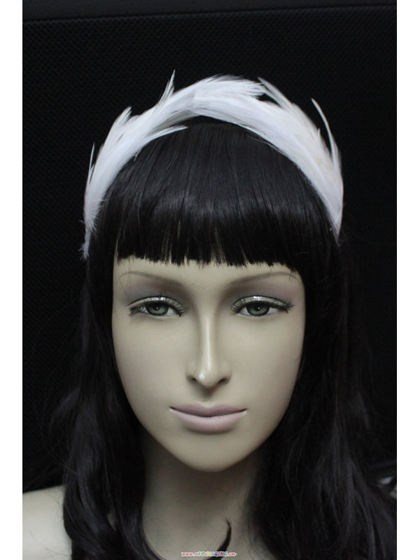 White Headband with Imitation Diamond