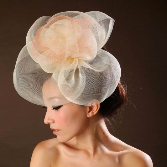 Pretty Tissue Wedding Bridal Hats