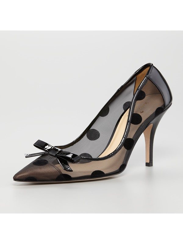 Comfortable Black Pointed Toe Transparent Pumps