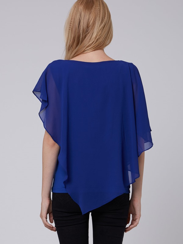 New Sweet Short Sleeve Chiffon Blouse