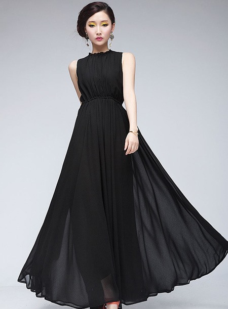 New Style Romantic Maxi Chiffon Long Dress