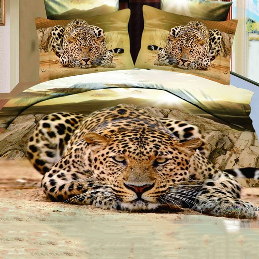 Unique Golden Jaguar-Shaped 4 Pieces 3D Bedding Sets(Free Shipping)