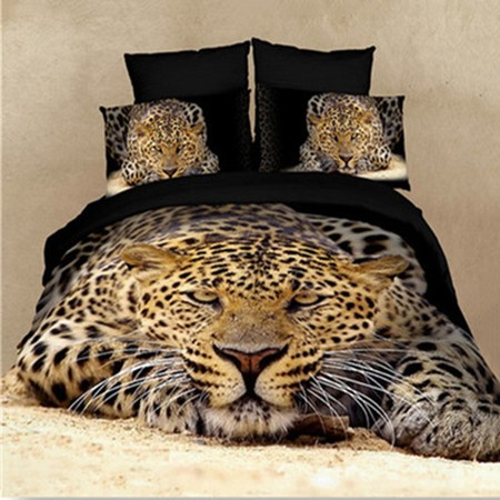 High Quality Strong and Smart King in the Jungle 4 Pieces Bedding Sets(Free Shipping)
