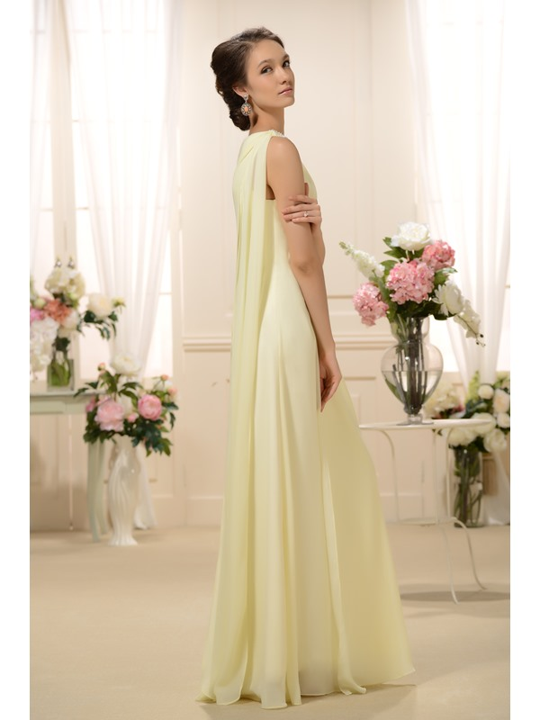 Enchanting Sashes Beaded Column Floor-Length One-Shoulder Bridesmaid Dress