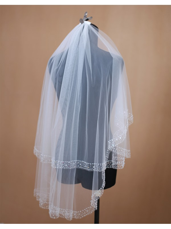 2-tier Elbow Tulle Wedding Veil