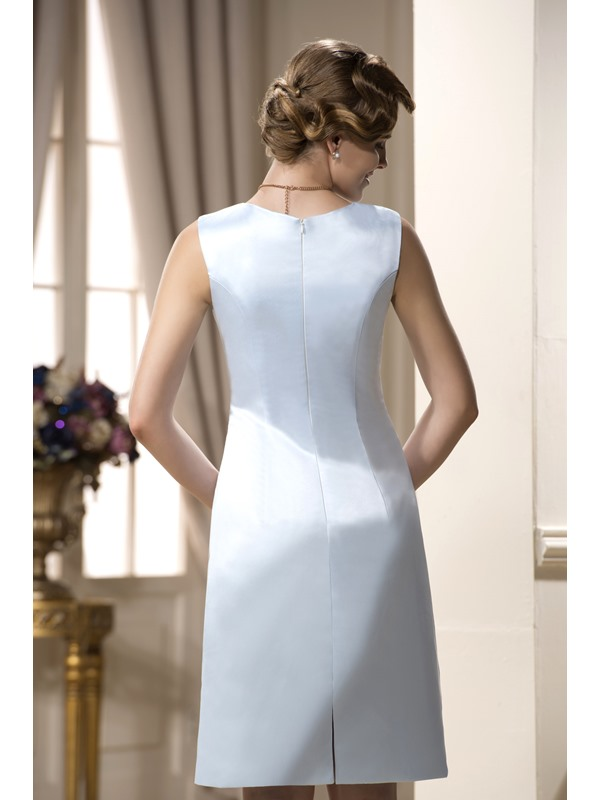 Remarkable A-Line Jewel Neckline Knee-Length Mother of the Bride Dress