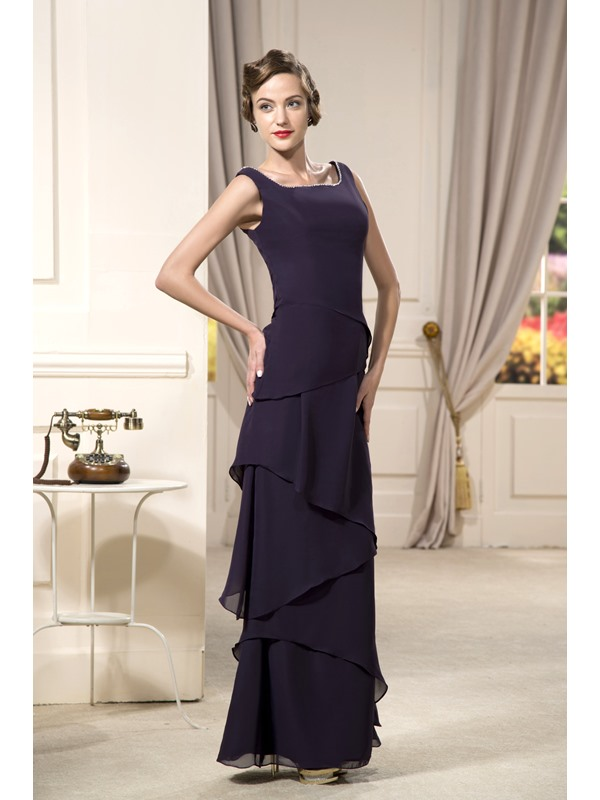 Enchanting A-line Floor-length Beaded Neckline Strapless Evening Dress