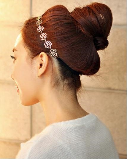 Hollow Rose Hair Tie