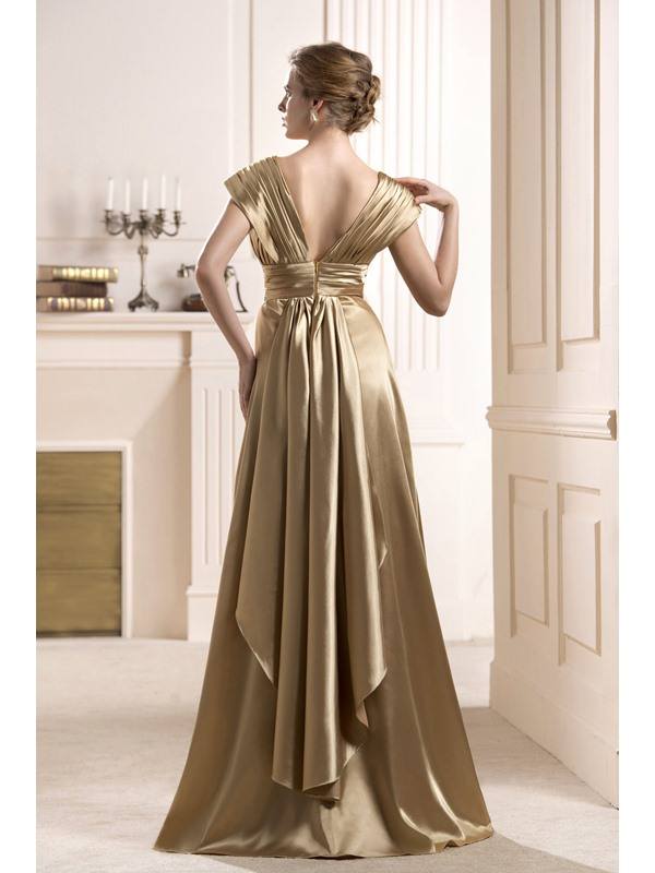 Elegant Flowers Tiered A-Line Floor-length Mother of the Bride Dress
