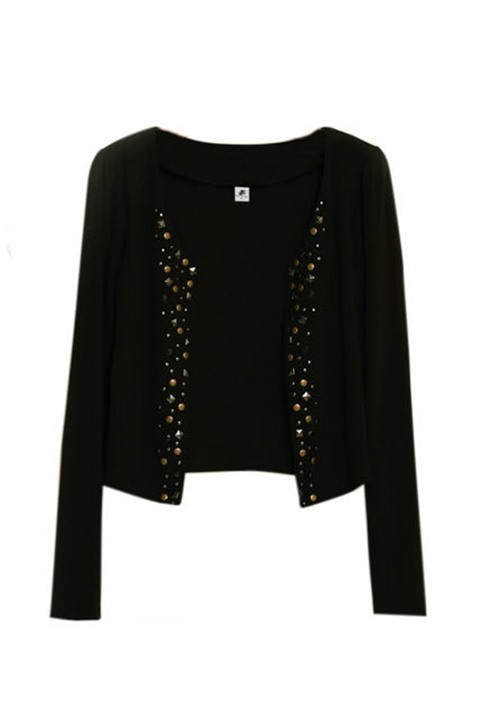 New Best Slim Long Sleeves Rivet Coat