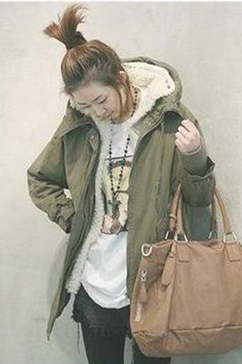Deluxe Korean Long Thick Cotton Swallow Tail Overcoat