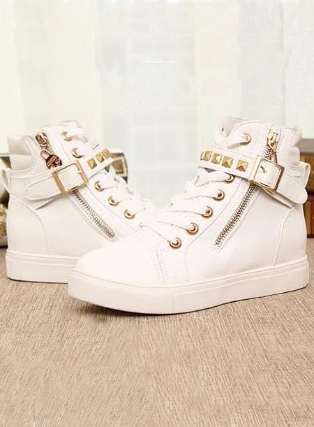 Beautiful Comfortable Campus Style Lace-Up Pattern Canvas Shoes