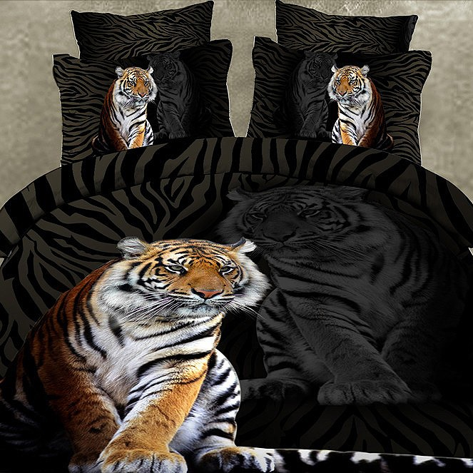Vogue Tiger Cotton 4Piece Bedding Sets(Free Shipping)