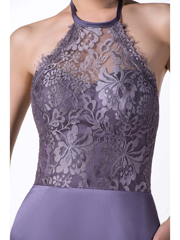 Halter Mermaid Lace Mother of the Bride Dress