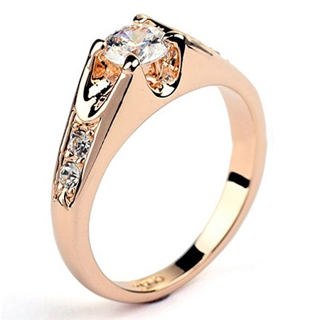 Exquisite Hot Selling Crystal Alloy Ring