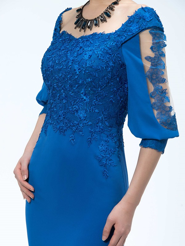 Half Sleeve Lace Mother of the Bride Dress