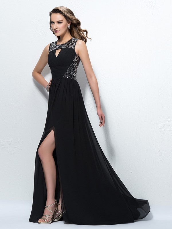 Glamorous Sequins Ruched A-Line Empire Waistline Floor-Length Evening Dress(Free Shipping)