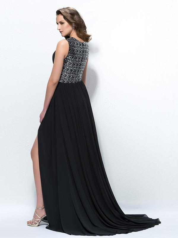 Sequins Ruched A-Line Empire Evening Dress(Free Shipping)