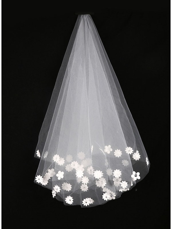 Stunning Flowers Crystal Wedding Veil