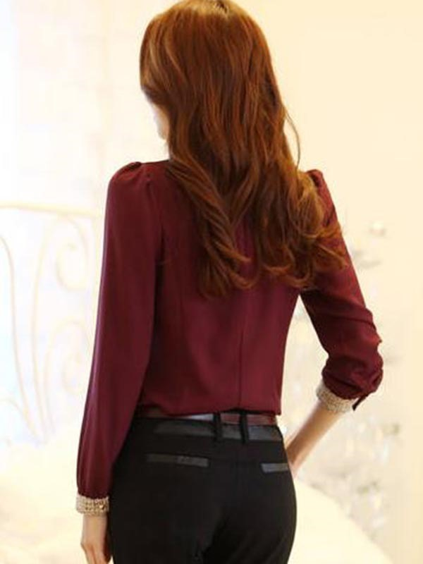 OL Style Fashion Slim Doll Collar Work Shirt(Free Shipping)