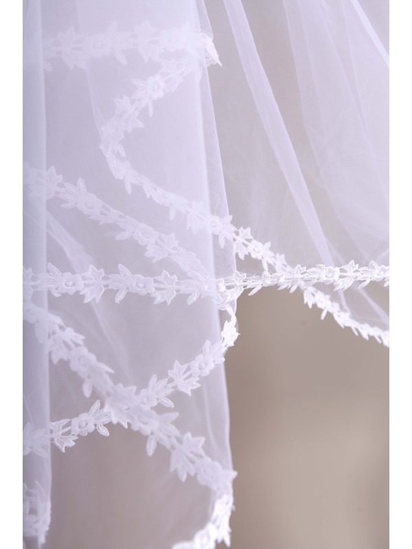 Wonderful Cathedral Length Appliques Wedding Veil