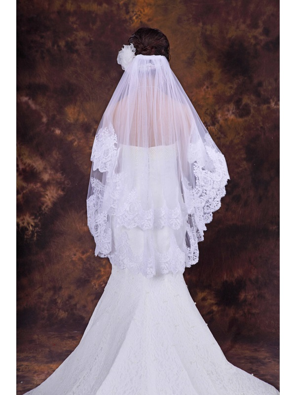 High Quality Floral Edge Wedding Bridal Veil