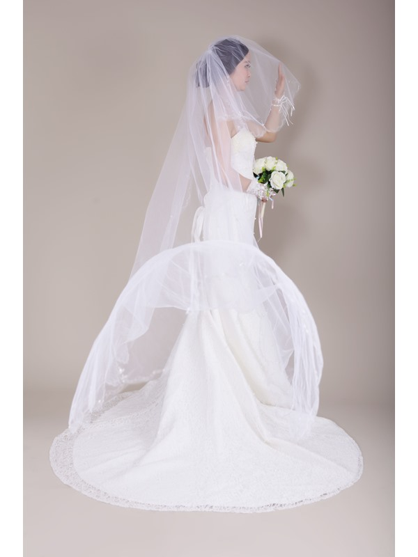 Chapel Length Wedding Veil with Sequins